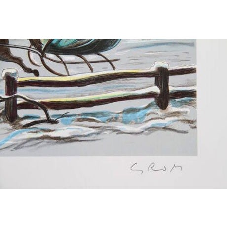 """Bogdan Grom, """"Winter Tranquility,"""" Lithograph - Image 2 of 2"""