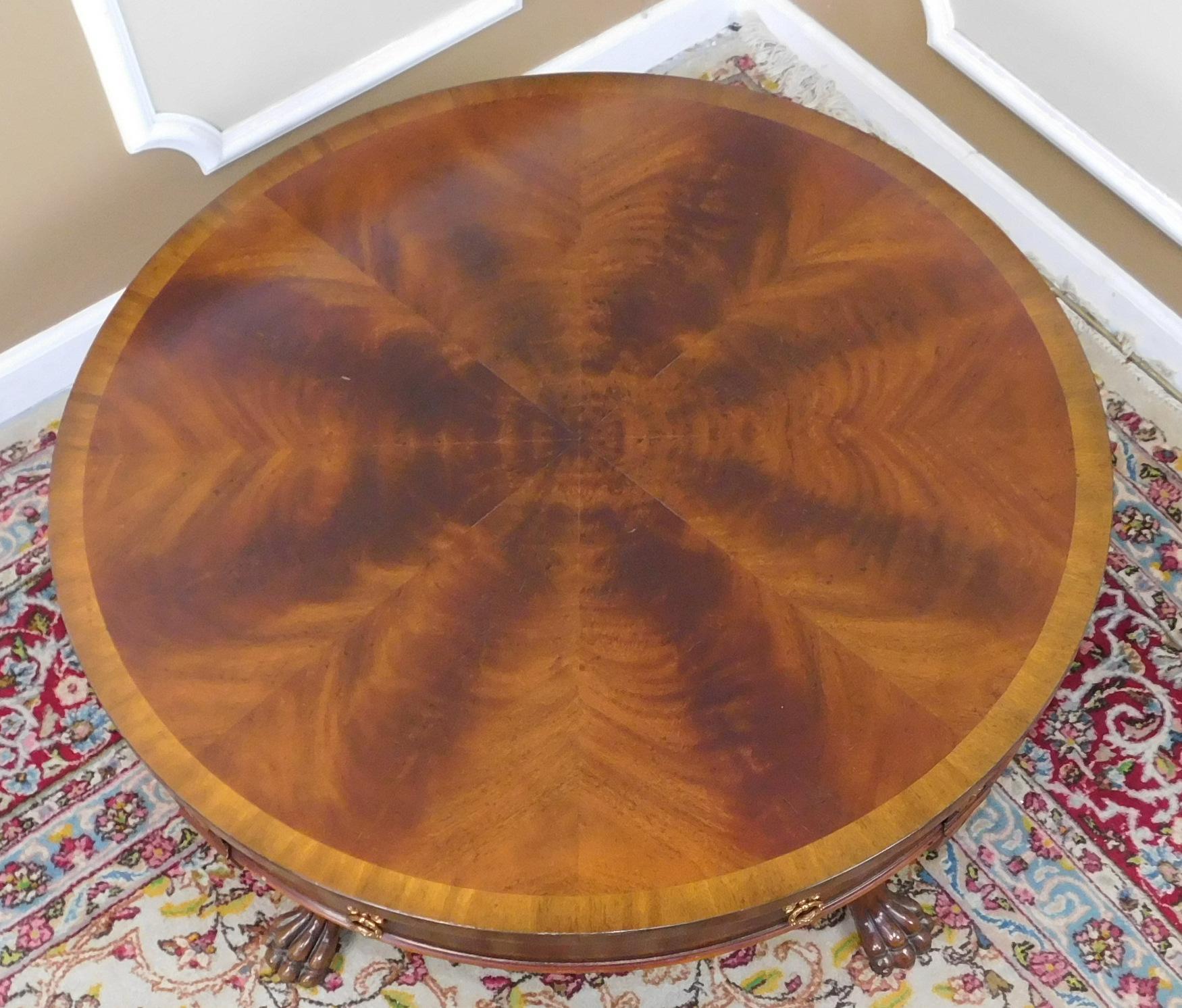 Maitland-Smith Banded Mahogany Coffee Table : Chairish