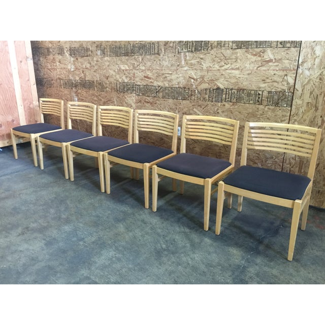 Knoll Studio Blond Dining Chairs - Set of 6 - Image 2 of 4
