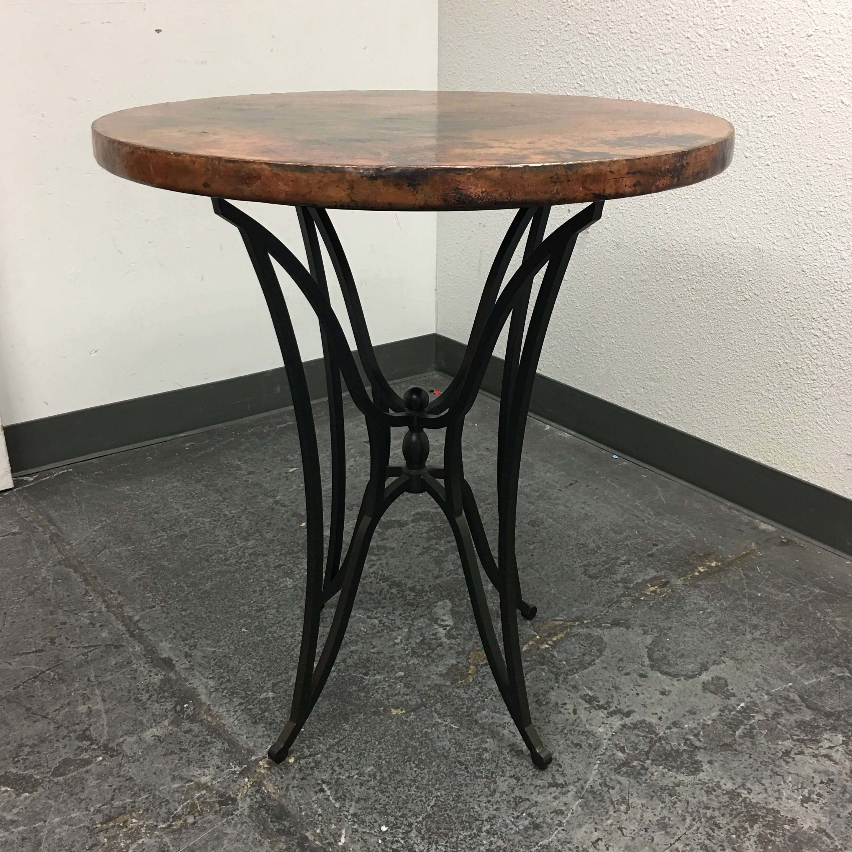 arhaus round dining table arhaus bar table amp barstools chairish 870