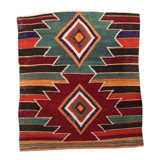 "Kilim Rug Turkish Handmade - 3'x3'2"""