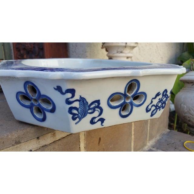 Chinese Filigree Porcelain Serving Platter - Image 6 of 6