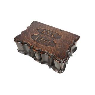 18th C. Antique Carved Oak Box