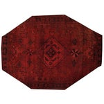 Image of Apadana - Overdyed Red Persian Rug - 7′ × 9′7″