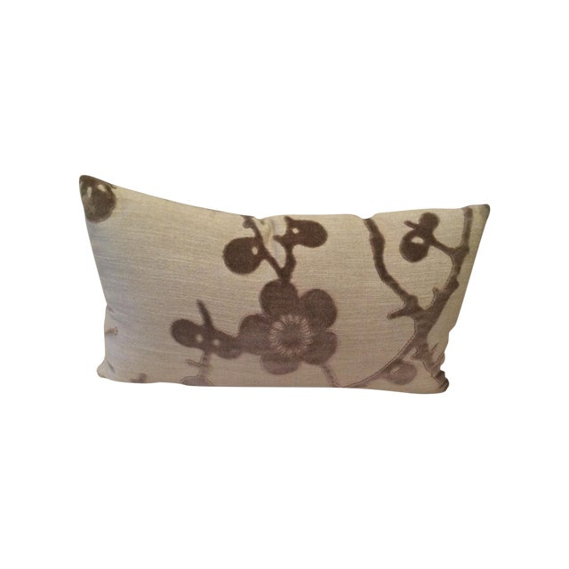 Image of Lee Jofa Floral Flocking Pillow