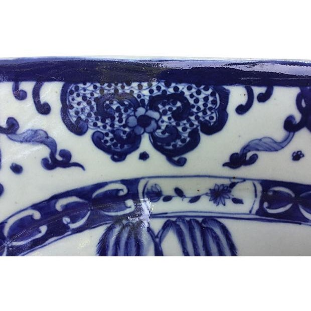 Blue & White Chinese Willow Platter - Image 3 of 4