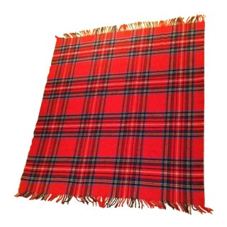 Vintage Scottish Tartan Throw Blanket