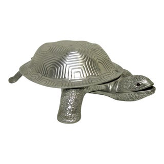 Arthur Court Aluminum Turtle Covered Dish