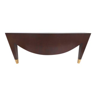 Vintage Donghia Console de Triomphe in Black Limba Wood