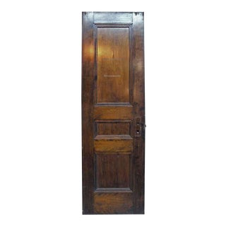 Single Narrow Birch Door with Three Recessed Panels
