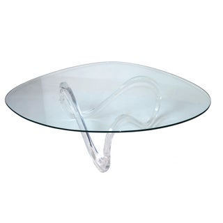 Mid-Century Lucite Ribbon Coffee Table