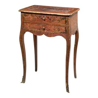 18th Century Painted Decorated Work Table