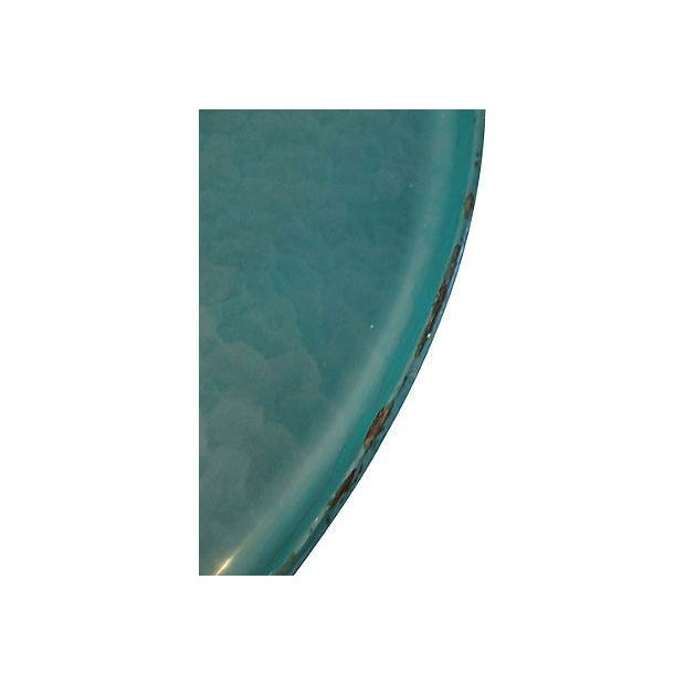 Midcentury Kyes Moiré Caribbean Green Tray - Image 4 of 5
