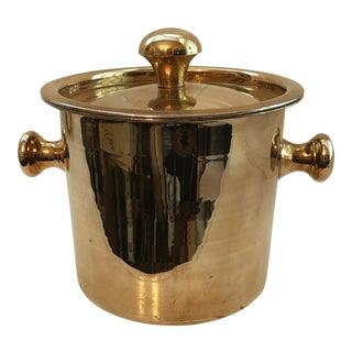 Mid-Century Brass Ice Bucket