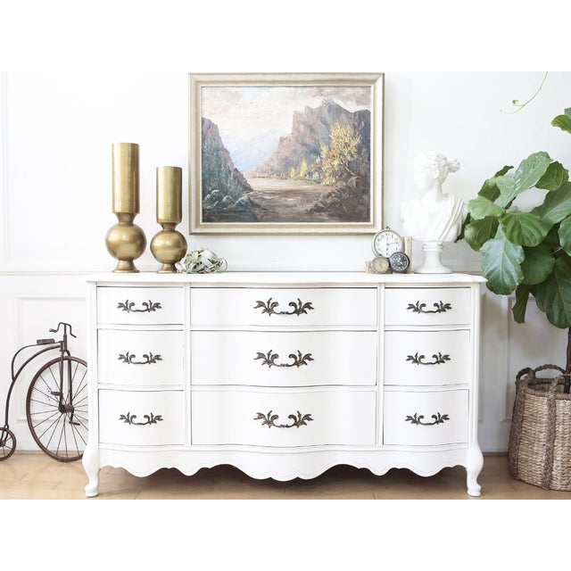 Shabby Chic French Provincial Vintage Dresser by Bassett - Image 3 of 8