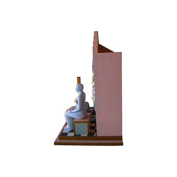Image of M. Berkowitz Op Art Three Dimensional Sculpture