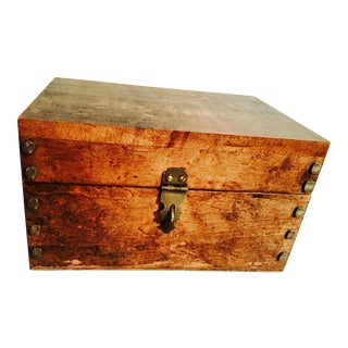 Vintage Reclaimed Maple Rustic Box