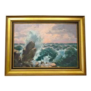 'Breaking Waves' Oil Painting