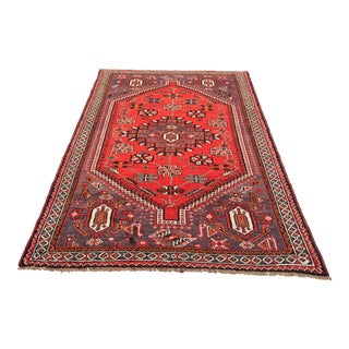 Vintage Persian Shiraz Area Rug - 5' x 7'11""