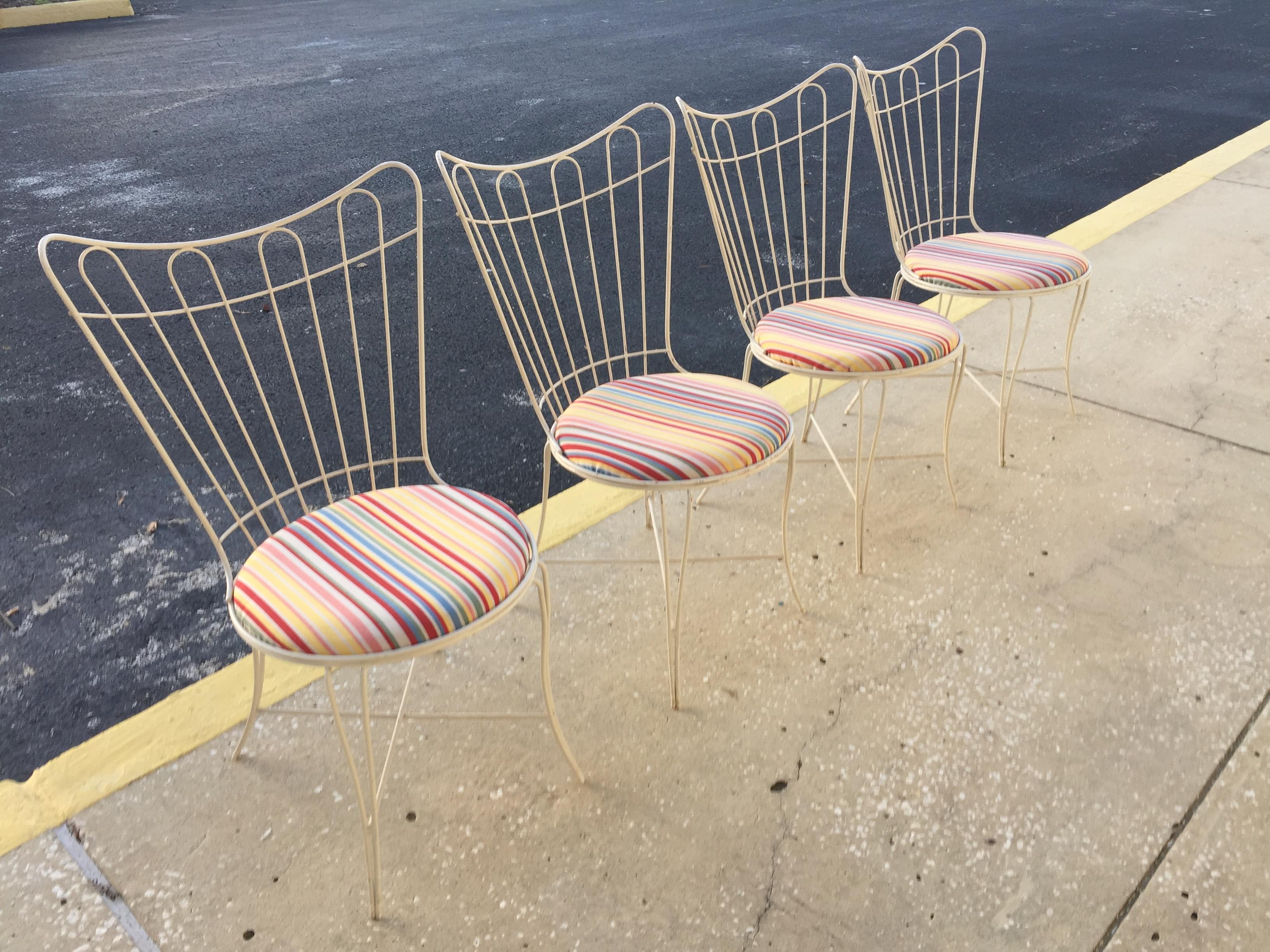 Homecrest Wire Patio Chairs Set Of 4 Chairish