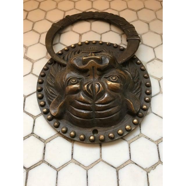 Asian Tiger Brass Door Knocker - Image 4 of 8