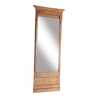 Carved Wood Floor Mirror