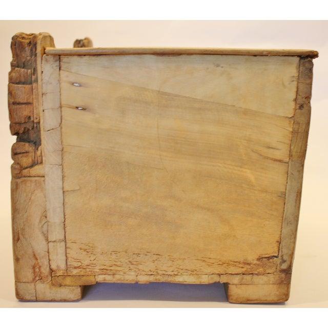 Image of Folk Art Recycled Wood Magazine Rack