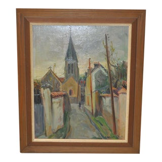 Vintage Mid-Century Impressionist Oil Painting by Andre Michel