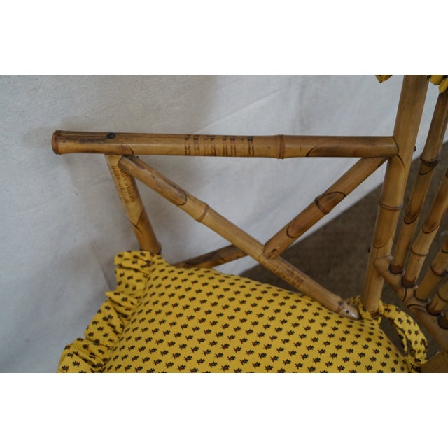 Antique 19th C. Victorian Bamboo Corner Chair - Image 6 of 10