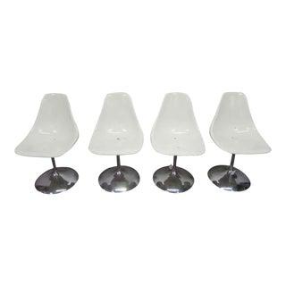 Mid-Century White Acrylic Chairs - Set of 4