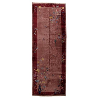 1920s Antique Art Deco Chinese Rug - 6′1″ × 16′10″