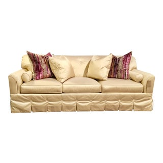 Hickory Chair Co. Syrie Maugham Silk Sofa