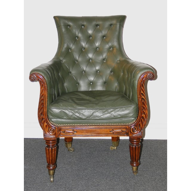 Regency Leather & Mahogany Library Chair C.1825 - Image 2 of 7