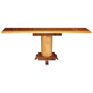 Spectacular French Art Deco Palisander / sycamore Console Table Circa 1940s.