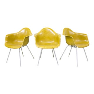 Eames Molded Fiberglass Armchairs - Set of 3