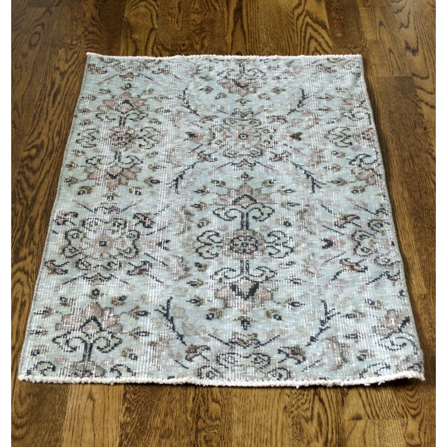 Turkish Over-Dyed Mint Wool Rug - 3′ x 2′ - Image 5 of 5