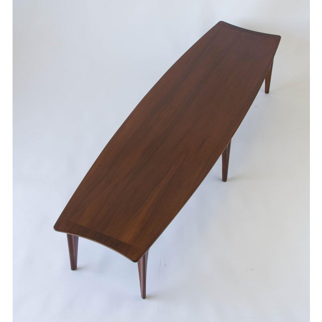 American Walnut & Rosewood Surfboard Coffee Table - Image 5 of 7
