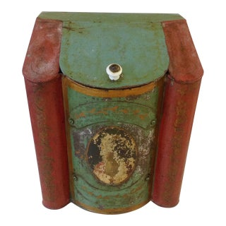 Old Hand Painted Store Tin