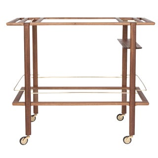 Sable Walnut Bar Cart