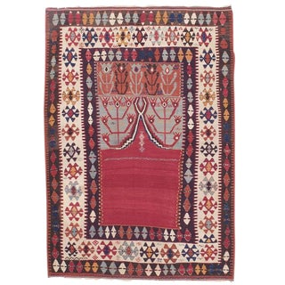 "Antique Central Anatolian Kilim with ""Tulips"""