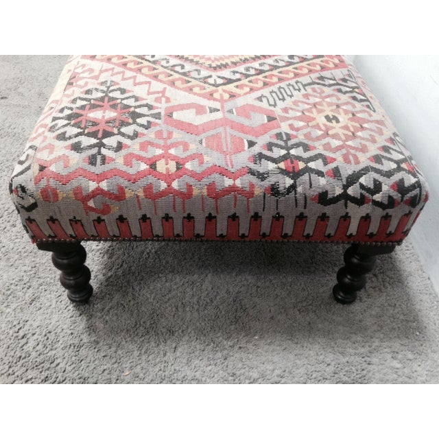 George Smith Boho Chic Kilim Ottoman - Image 10 of 10
