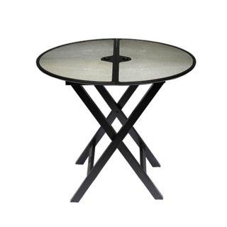 "Promemoria ""Battista"" Folding Side Table in Shagreen (Stingray)"