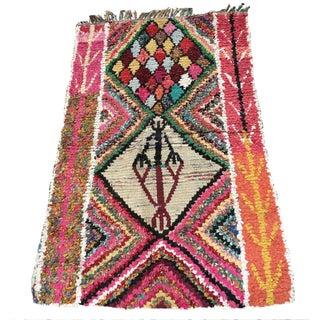 Art Moroccan Boucherouite Rug - 3′8″ × 5′3″