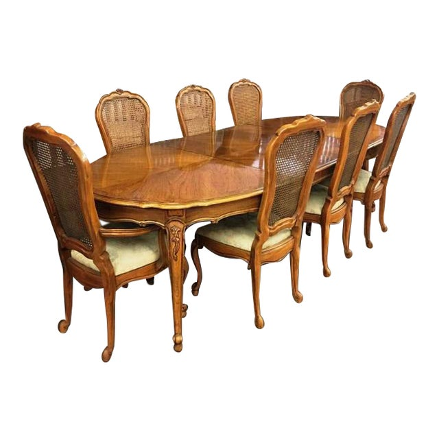 Vintage Thomasville French Court Dining Table Chairs