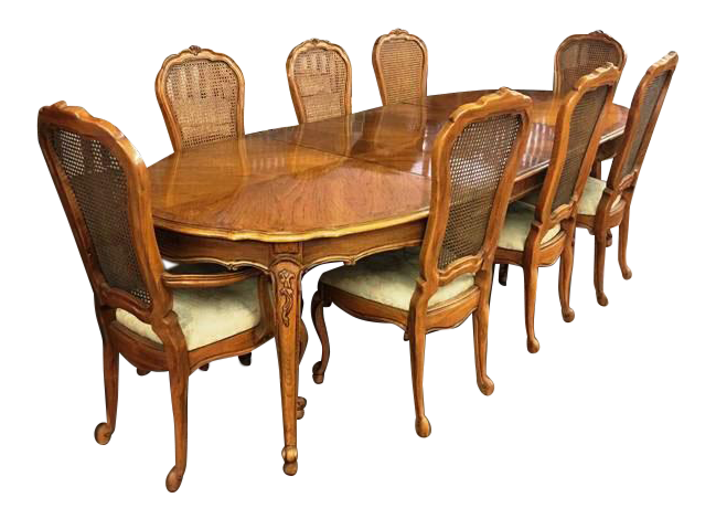 Awesome Vintage Thomasville French Court Dining Table U0026 Chairs   Set Of 9 Part 12