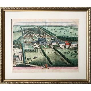Antique English Estate Engraving by Johannes Kip 1712