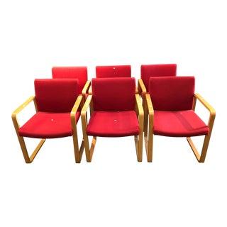 J.G. Furniture Red Laminate Chairs -Set of 6