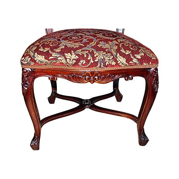 Louis XV-Style Mahogany Side Chairs - Set of 6 - Image 5 of 7