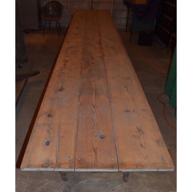 Antique Old Harvest Pine Table - Image 8 of 9