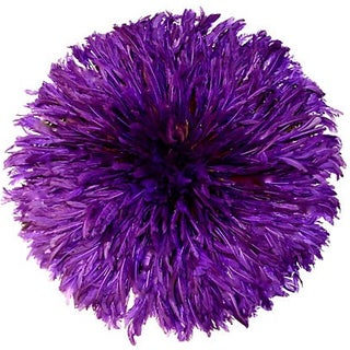 Ceremonial Purple Juju Hat Wall Hanging